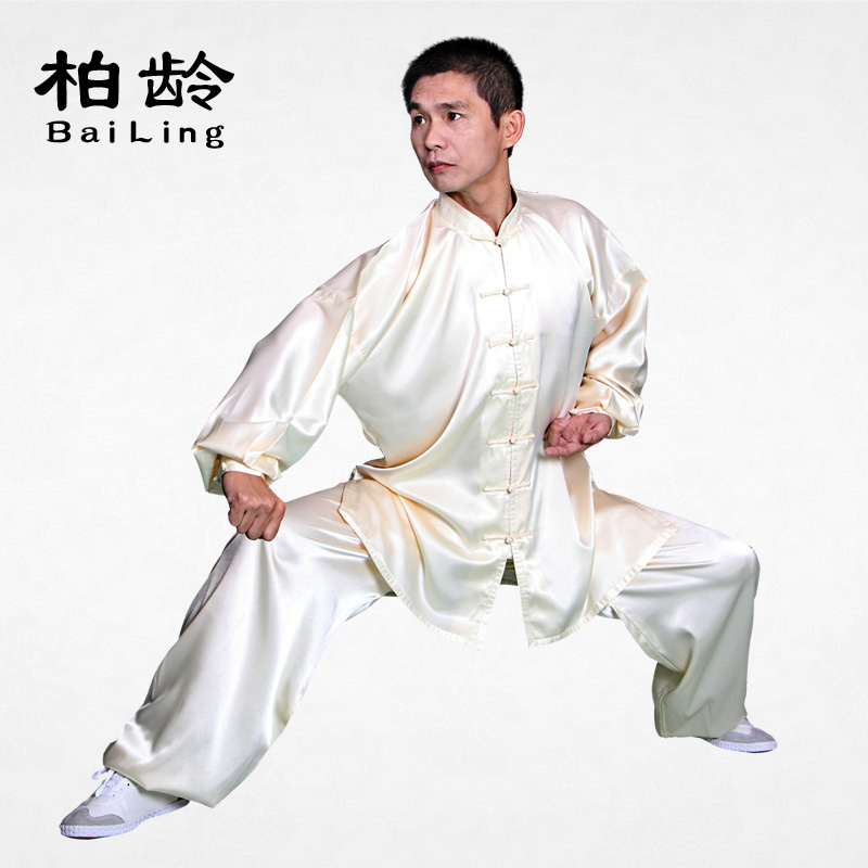 The new parkland elastic silk clothes and tai chi clothing ensembles, martial arts clothing morning suit male l