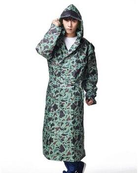 Men Womens Camouflage Long Trench Raincoats Waterproof Outdoor Jacket burbe rry capa de chuva Poncho Slim Rainwear Free Shipping