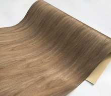 1Piece Lengh:2.5meters  Width:60cm Thickness:0.35mm Black Walnut Wood Veneer(Back Kraft  paper)