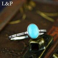 2019 New Fashion Turquoise Stone Ring For Women Original Design Elegant 925 Sterling Silver Ring Gift Christmas Gift