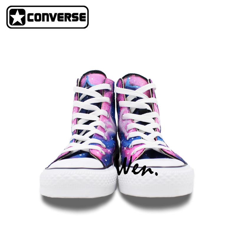 Purple Pink Galaxy Shoes Women Men Converse Chuck Taylor Boys Girls Sneakers  Custom Design Hand Painted 9f0a386140
