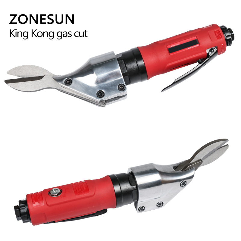 ZONESUN Handle Powerful Metal pneumatic Wire Mesh Iron plate diamond net scissors air shear gas electronic cutter