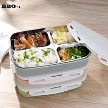Portable Cute Mini Japanese Bento Lunch Boxs Set Thermal Lunch Boxs For Kids Picnic Food Container For Food Storage 4-Grids