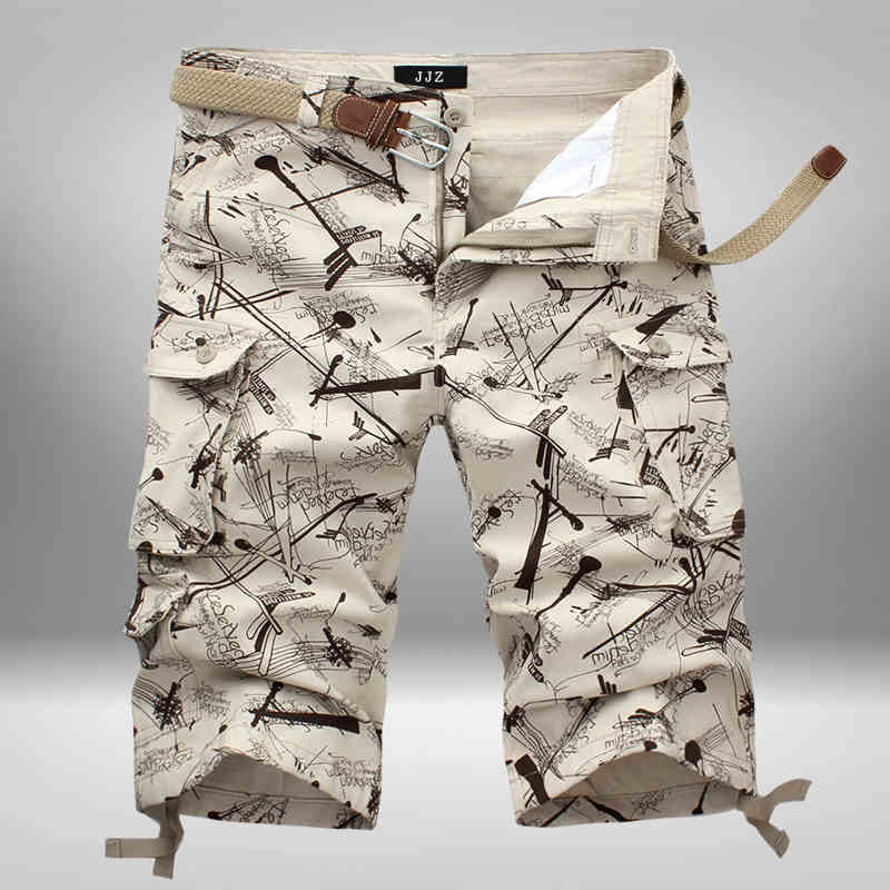 Fashion 2020 Summer Broken Flower Man Bermuda Masculina Cargo Male Tooling Casual Cotton Loose Camouflage Beach Short Trousers