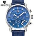 Montre Homme BENYAR Chronograph Men's Watch Luxury Brand Full Steel Quartz Black Watch Men Wrist Watch Man Clock Erkek Kol Saati