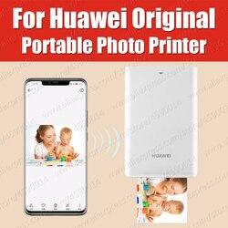 Ar impressora 300dpi original huawei zink impressora de fotos portátil honra bolso impressora bluetooth 4.1 suporte diy compartilhar 500 mah