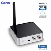 Bluetooth 5.0 Long Range Transmitter Receiver 2 in 1 328ft  Adapter 3.5mm AUX Adapter Support AptX HD & Low Latency Dual Stream недорого