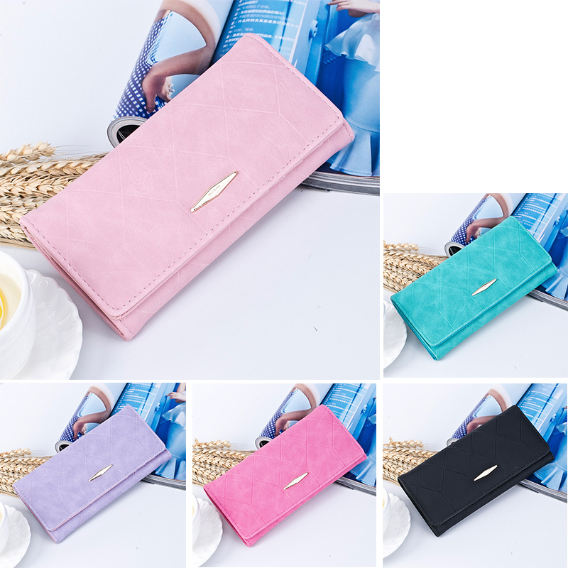Female Wallets Purses Card-Holder Phone-Bag Pocket Money-Coin Long Women Plaid Hasp And