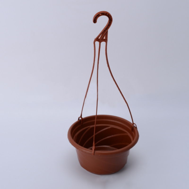 1pc Plastic Hook Style Flower Pot Hanging Flower Plant Pot Chain Basket Planter Holder Home Garden Balcony New