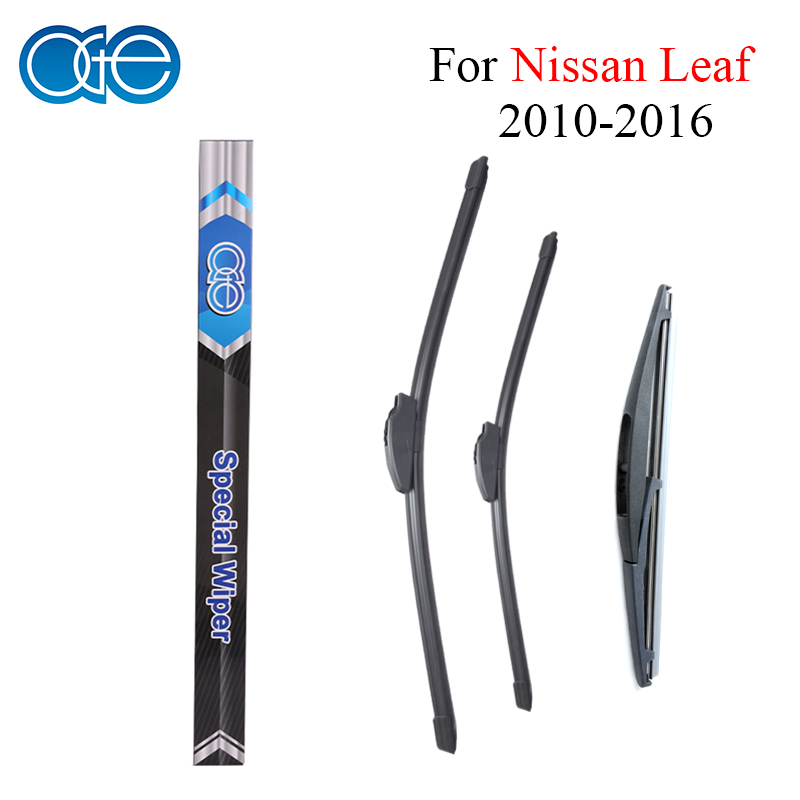Oge Front And Rear Wiper Blades For Nissan Leaf 2010 2011 2012 2013 2014 2015 2016 Natural Rubber Car Windscreen Accessories wiper blades for vw golf 7 fit push button arms 2012 2013 2014 2015 2016 26 18 windscreen windshield silicone rubber car wiper