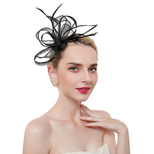 Elegant Fascinators Red Wedding Bride Headwear For Women Mesh Veil Vintage Ladies Church Dress Decor Derby Jockey Club Hats