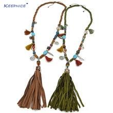 Новое богемное шикарное ожерелье в стиле бохо цветная цепочка