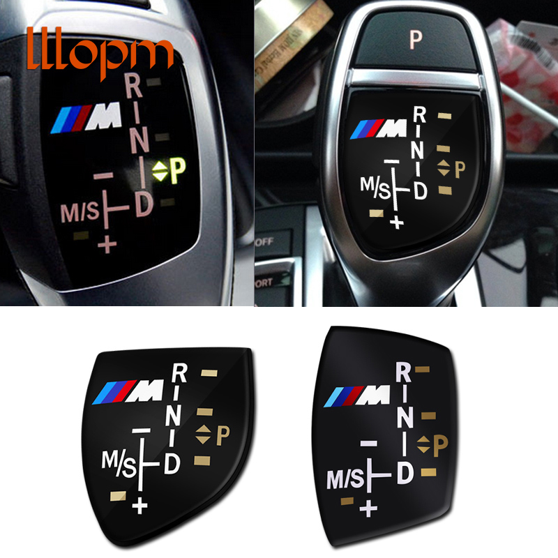 3D M logo Gear Shift Knob Sticker Cover For BMW X1 X3 X5 X6 M3 M5 325i 328 F30 F35 F18 F20 F21 GT 3 5 6 7 Series car accessories