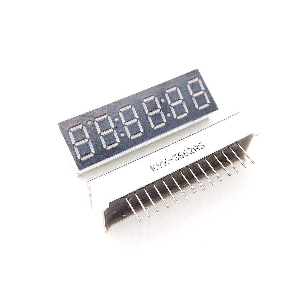 10 шт. 0.36 6 бит Цифровой LED Дисплей часы красного цвета семь сегмент общий анод/катод 14 Шпильки