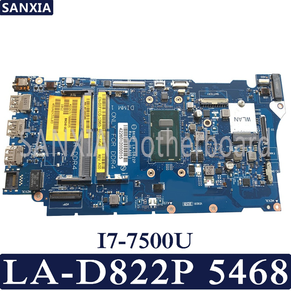 KEFU BKD40 LA-D822P Laptop motherboard for Dell Vostro 5468 5568 Inspiron 7460 7560 Test original mainboard I7-7500UKEFU BKD40 LA-D822P Laptop motherboard for Dell Vostro 5468 5568 Inspiron 7460 7560 Test original mainboard I7-7500U