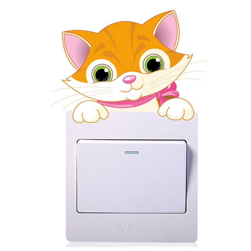 בעלי חיים פיל חתול פנדה ג 'ירפה אור מתג מדבקה לילדים משתלת בית מדבקות PVC סלון