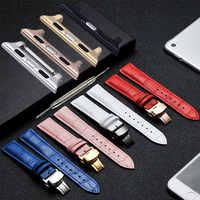 Del Cuoio genuino Watchbband + SIM Card e Adattatori per iWatch di Apple Vigilanza 38mm 42mm Croco Cinturino Da Polso Bracciale Nero Marrone Rosso rosa Bianco