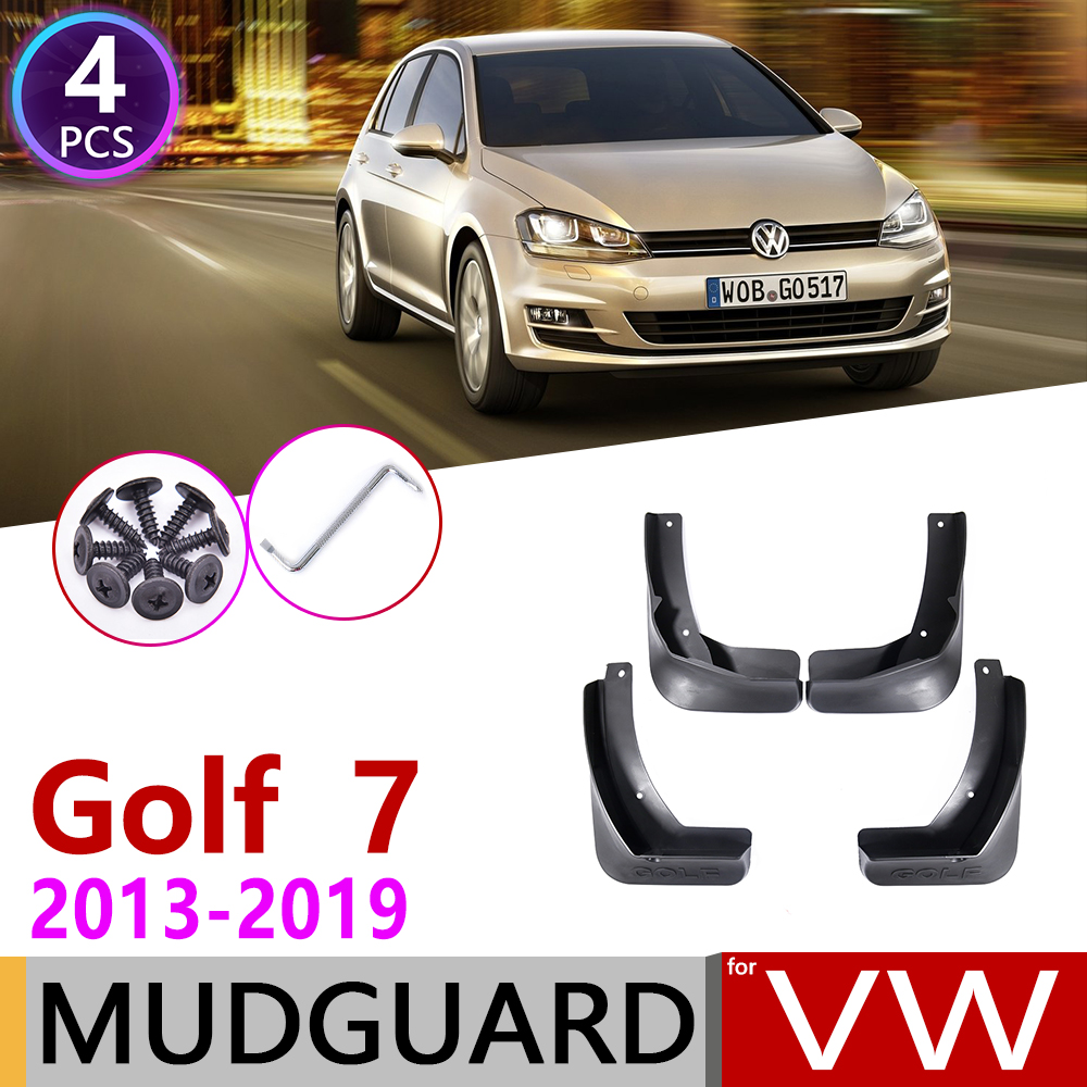 For Volkswagen VW Golf 7 Mk7 2013~2019 Mudflap Fender Mud Flaps Guard Splash Flap Mudguards Accessories 2014 2015 2016 2017 2018