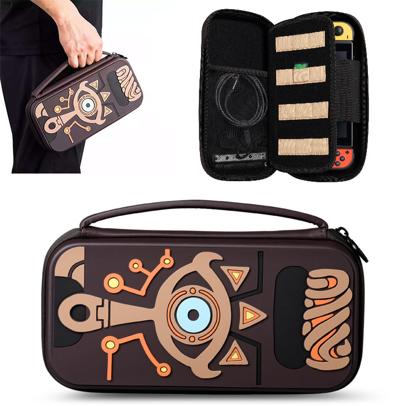 The Legend of Zelda Switch Carrying Storage Bag Sheikah Slate Water-resistent Silica Gel Case Bags Cover Protector(China)