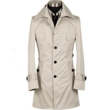 Hot sell ! New designer slim short trench coat men overcoat long sleeve mens clothing business outerwear black wine red beige