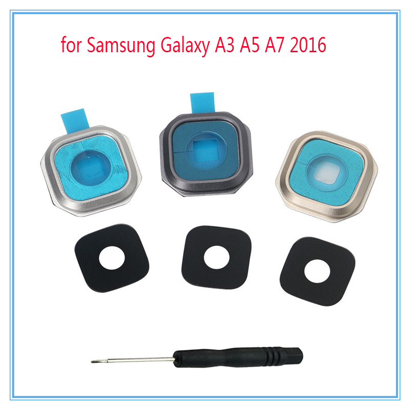 For <font><b>Samsung</b></font> Galaxy A3 A5 A7 A9 2016 A310 A310F A510 <font><b>A510F</b></font> A710 A710F A9000 Phone Housing Back Camera Glass Lens With Tool image