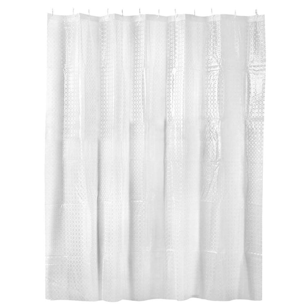 3d Waterproof Shower Curtain Transparent White Clear Bathroom Curtain Luxury Bath Curtain For Home
