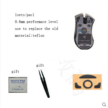 1sets/pack Original Hotline Games 0.28mm Performance Level Mouse Feet For Razer Mamba Gaming Mouseskate Teflon Mouse Glide