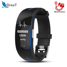P3 Smart Bracelet ECG+PPG Blood Pressure Heart Rate Monitoring IP67 Waterpoof Pedometer Sport Smart Fitness Band for IOS Android все цены
