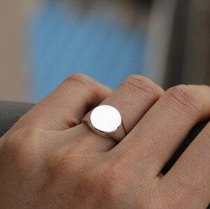 Image 5 - Engravable גברים תכשיטי אמיתי 925 כסף סטרלינג טבעת חותם