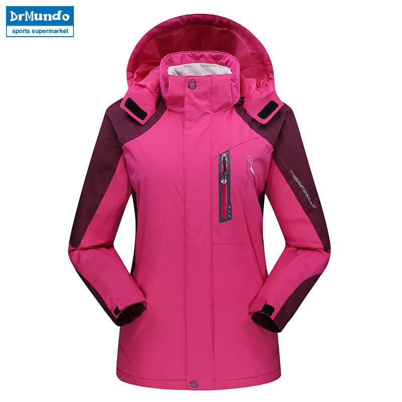 女性スキージャケット山増粘プラスサイズフリーススキーウェア防水ハイキング屋外スノーボードジャケット女性の雪のジャケット