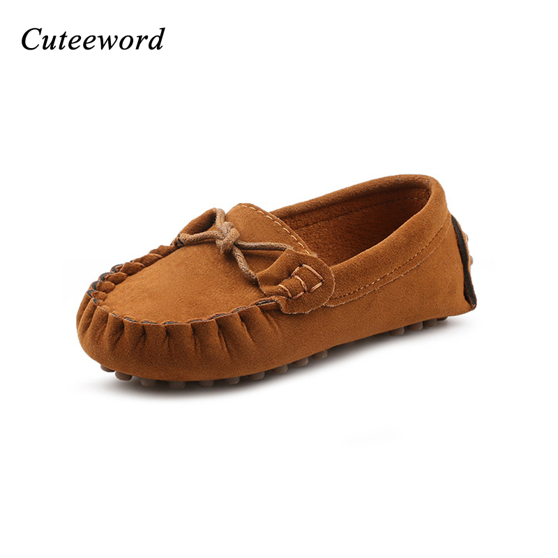 Childrens peas shoes 2018 spring new leather fur kids shoes for girls boys casual shoes fashion quality comfortable baby