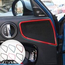 hot for mini cooper f60 countryman interior trim carbon fiber gear shift control panel cover sticker car styling accessories 4pcs ABS carbon fiber Car Door Audio Speaker Cover Trim Strip Interior Decoration Car Styling For Mini Cooper F60 Countryman