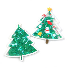 David accessories Christmas Tree Santa Liquid Quicksand Cover For Phone DIY Sequin Ice Cream Patch Cases,5Yc6894(China)