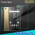 2 unids Delante Detrás del Protector de Pantalla de Cristal Templado para Sony Xperia Z5 Full Body Película A Prueba de Explosiones para Xperia Z5