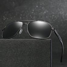 High Quality Classic Polarized Men Sunglasses Mirror Square Driving Fishing Sun Glasses For Mens Aviator Pilot Sunglass Male HD