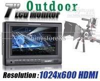 HD 1024x600 Feelworld 7 дюймов ЖК дисплей TFT Камера Мониторы видео HDMI PIP Горячий башмак Tally комплект pom10