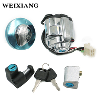 Ignition Fuel Gas Cap Steering Lock Set for Honda Shadow Steed VLX 600 ACE750 Ignition Fuel Gas Cap Steering Lock Set