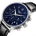 Guanqin deporte de los hombres de primeras marcas de lujo reloj de cuarzo de moda casual de los hombres de cuero grande dial fecha reloj reloj hombre