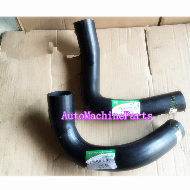 Upper&Lower Radiator Hose For Hitachi EX60 Excavator For Isuzu 4JB1 Engine new water pump for hitachi excavator ex120 2 for isuzu engine 4bd1