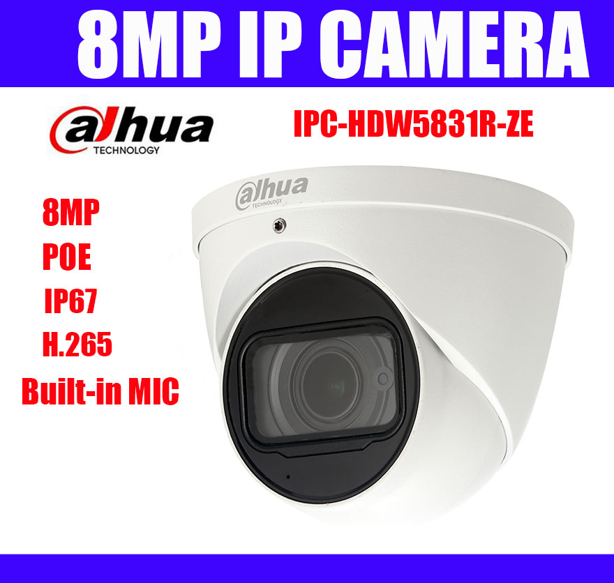 IPC HDW5831R ZE 8MP POE H 265 IP67 IR 50m Duhua Genuine Dome IP Camera 2