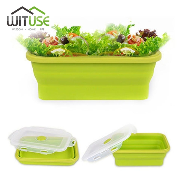 c705f6070fdf US $7.38 44% OFF|Wituse Silicone Soft Travel Portable Eco Collapsible  Folding Lunch Box Food Container Random Color Different Size-in Storage  Boxes & ...