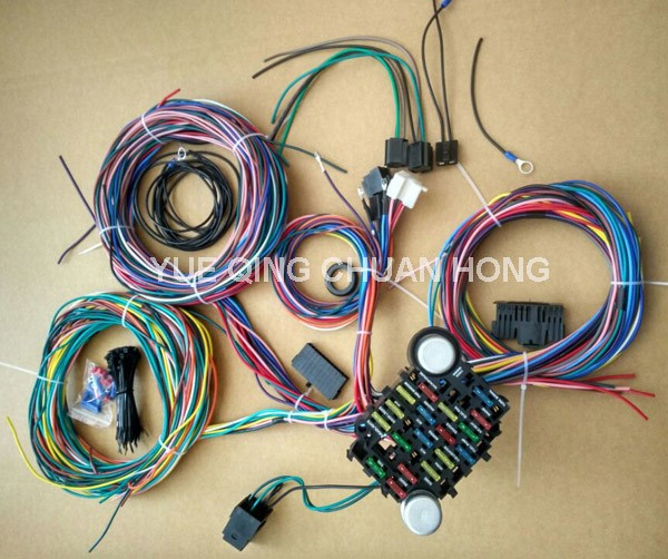 21 Circuit 17 Fuses EZ Wiring Harness Hot Rod Universial Wires aliexpress com buy 21 circuit 17 fuses ez wiring harness hot rod