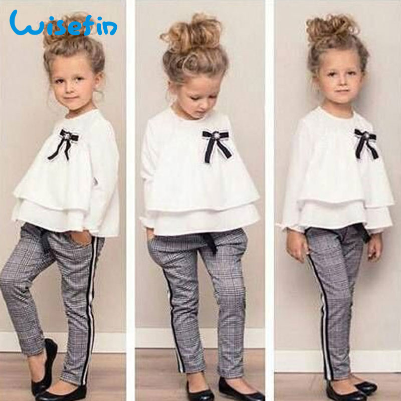Wisefin Autumn Youngsters Garments For Woman Lengthy Sleeve White Toddler Woman Clothes Set Spring Vogue Child Woman Oufits Pants Tops Clothes Units, Low cost Clothes Units, Wisefin Autumn Youngsters...