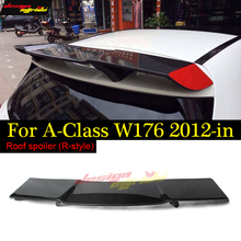 W176 Spoiler Wing For Mercedes Benz A-Class A180 A200 A250 A45 Style Revozport Rear Tail Carbon fiber 2012-16