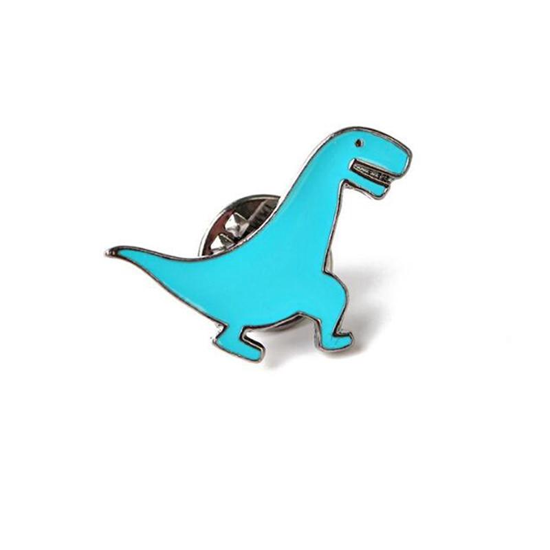Мультяшная мини-брошь с динозавром на булавке, милые эмалированные заколки с животными, украшение для одежды, шляпы, металлический значок, броши для женщин и мальчиков - Цвет: 05