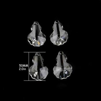 100pcs/Lot 50mm, Transparent Color, Crystal Chandelier Parts Pendant For Chandelier Trimming Part, Free Shipping
