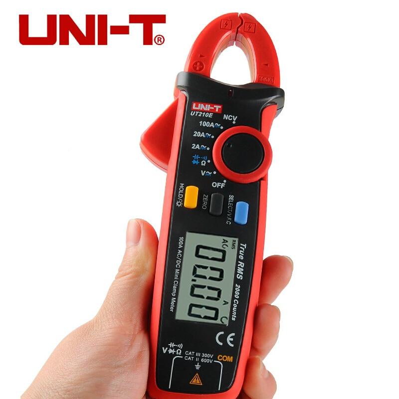 UNI T UT210E TRUE RMS Digital Clamp Meter AC DC Multimeter Auto range Current Clamp Pincers