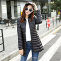 Plus Size 2016 New Fashion Winter Long Warm 100% Gray Goose Down Jacket Slim Solid Coat Women Stand Neck Overcoat Parka Coats