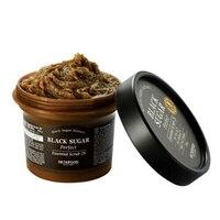 SKINFOOD New Black Sugar Perfect Essential Scrub 2X 210g Facial Cleanser Exfoliating Whitening Face Scrub Korea Peeling Cream