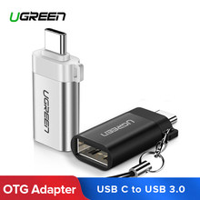 Ugreen Adapter USB Type C to USB 3.0 Type-C Adapter OTG Cable Converters For Chromebook Macbook Huawei Samsung S10 S9 USB C OTG(China)